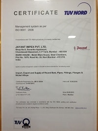 Jayant Impex Pvt Ltd ISO CERTIFIED